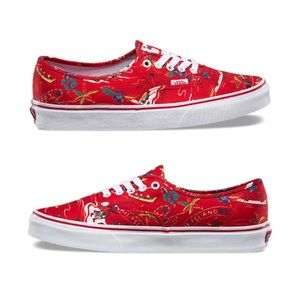 3261eb7601 Vans Shoes - NWT Red  Happy Hawaii